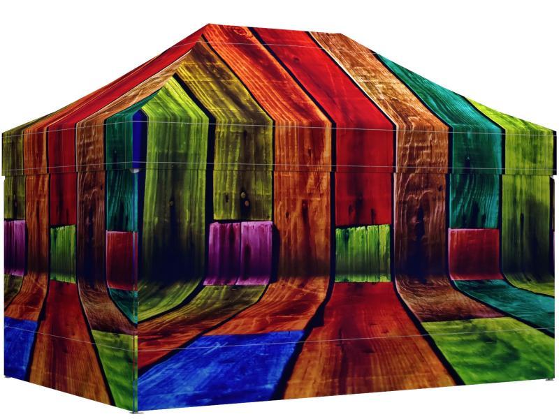 G+K Faltpavillon 3x4,5 Meter individuell bedruckt